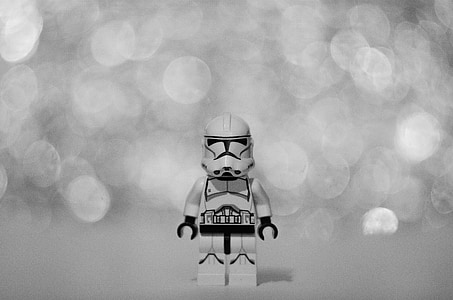 photography of Star Wars Clone Trooper LEGO toy