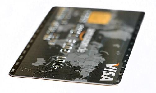 black Visa card