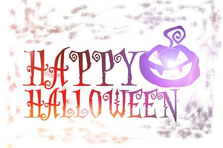 Happy Halloween text illustration