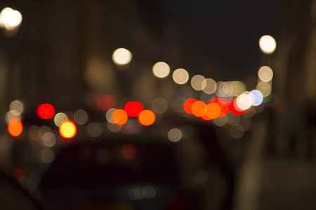 bokeh, car flow, yun, night view, function, defocused