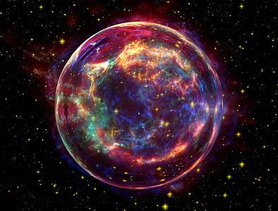 photo of purple and pink nebula