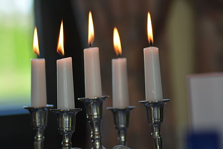 five white candles
