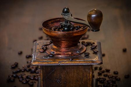 brown coffee manual grinder