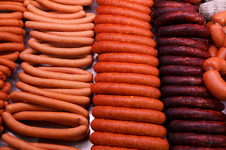 pile of assorted sausages