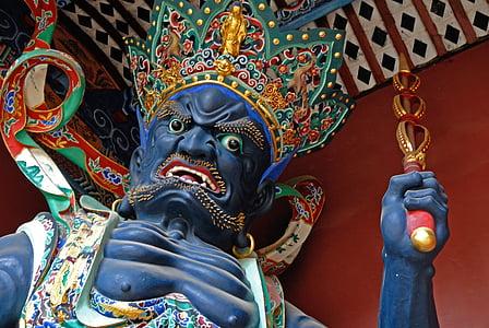 Religious ceramic statue