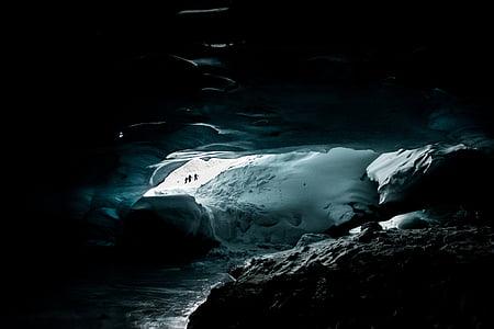 lowlight photo of cave