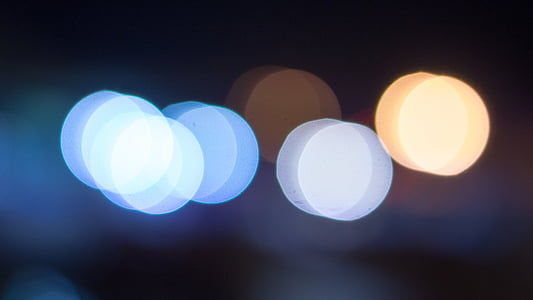 bokeh effect photography of lights