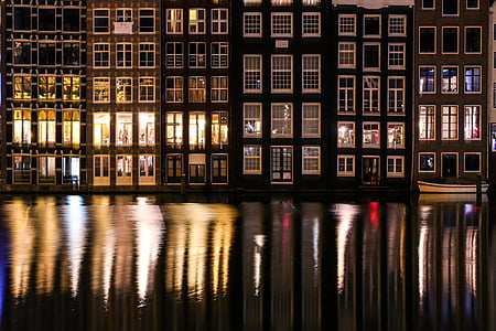 panoramic photography of building near water