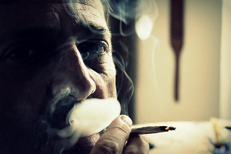 photo of smoking man