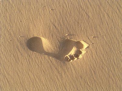 human soil foot print
