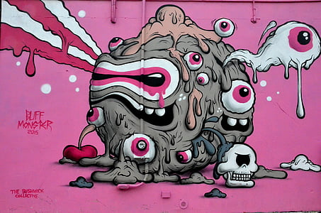 street art, graffiti, new york, art, wall, spray