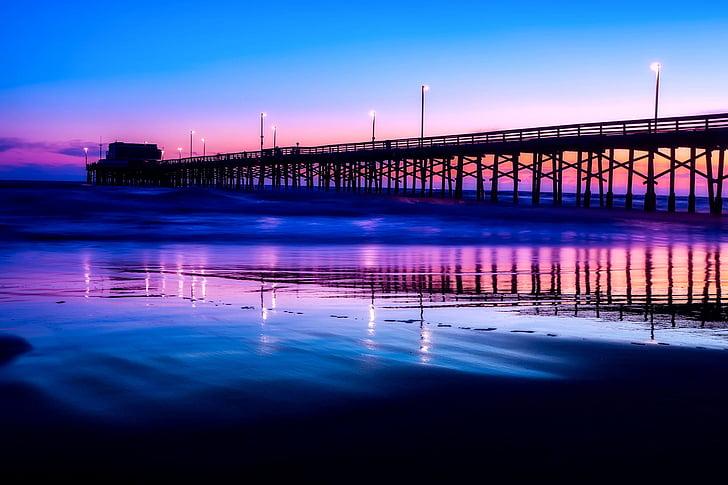 bridge under clear blue sky