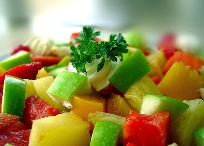closeup photo of fruit salad