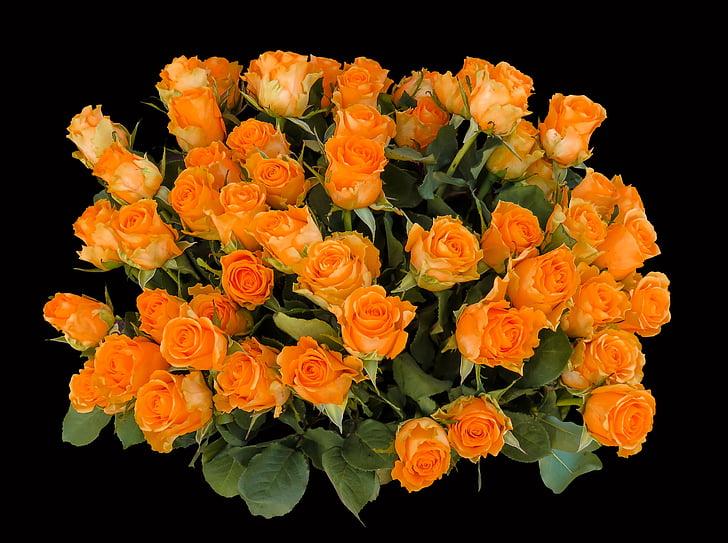 bouquet of orange rose flower