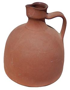orange clay pitcher