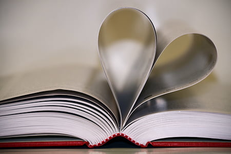 book leafs folded into heart