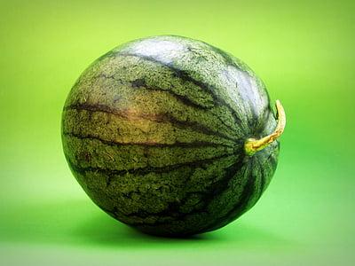 green watermelon on green surface