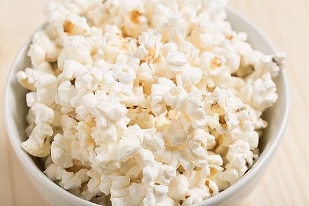 popcorn in white bowl