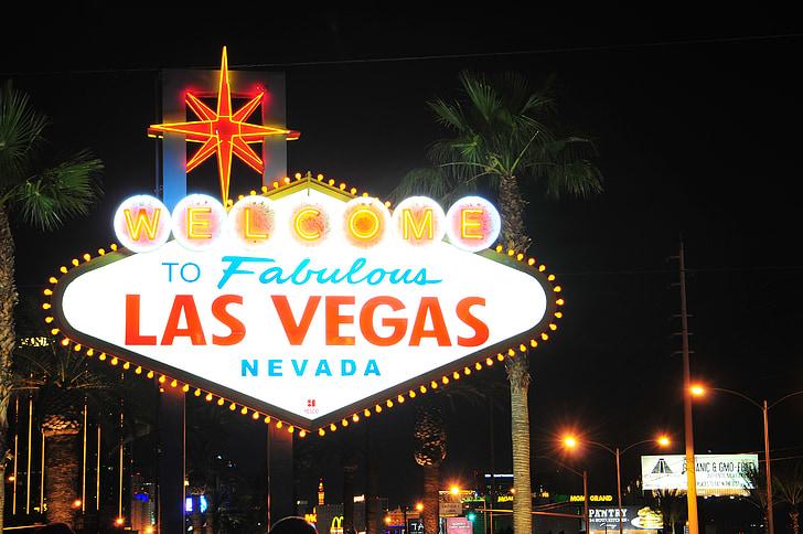 Las Vegas Nevada Welcome signage