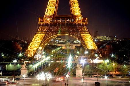 Eiffel Tower at nighttime