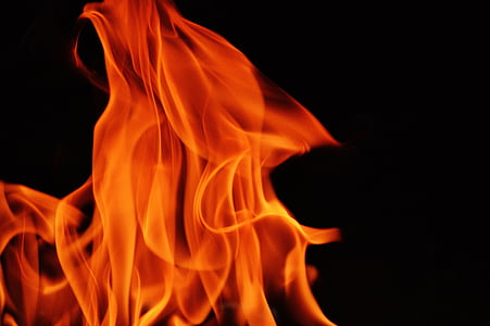 close-up photo of orange fire