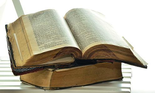 black hardbound book