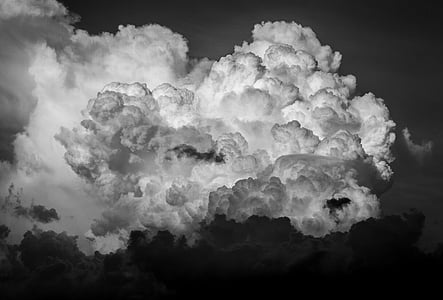 grayscale photo of clouds