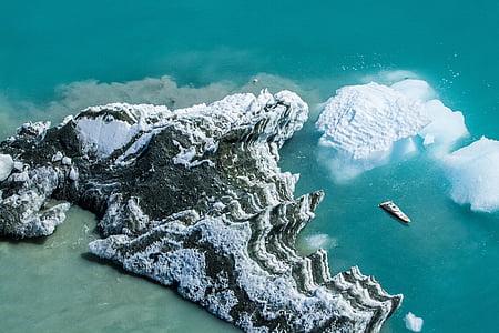ice berg over sea