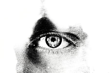 human eye stencil