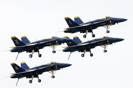 four black jet planes