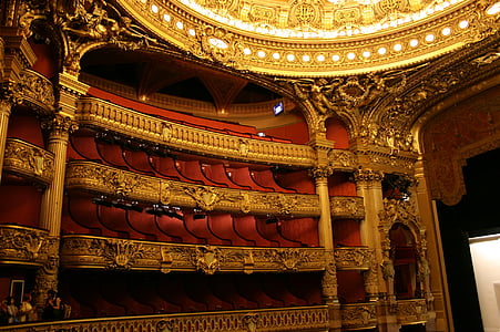 red and gold theater house