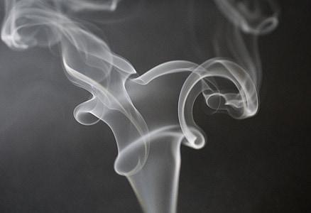 grayscale photography of smoke