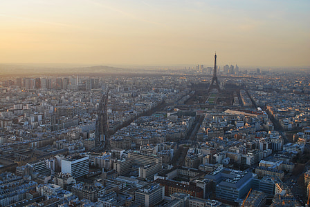 areal photography of Paris France
