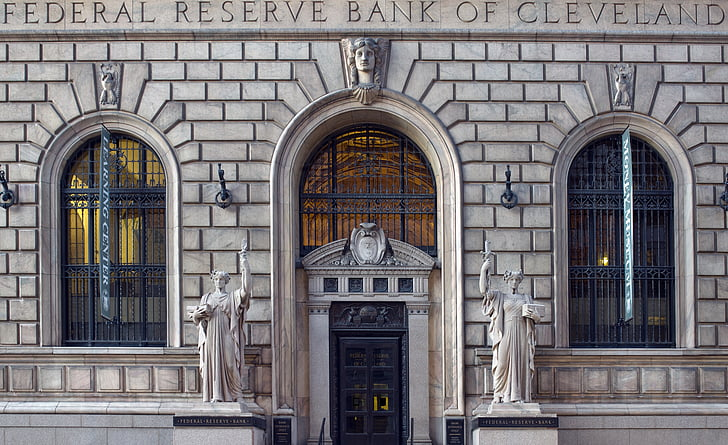 bank, building, architecture, city, federal reserve, urban