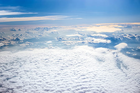 sea of white clouds