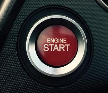 red Engine Start button