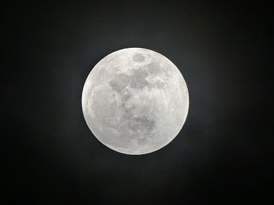 full moon during nighttime