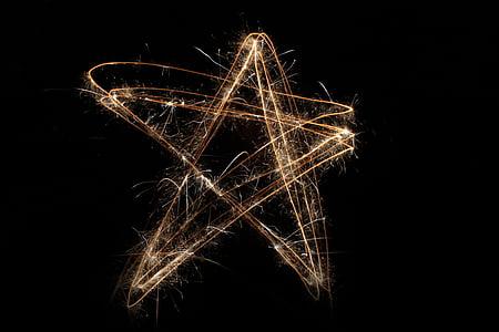 star steel wool photography