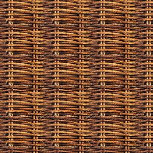 wicker brown frame