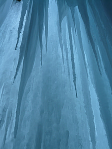 ice curtain, icicle, ice formations, cave, cold, stalactites