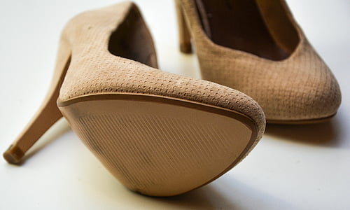 pair of women's beige pumps