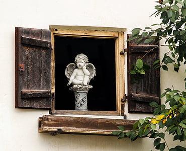 gray angel statue