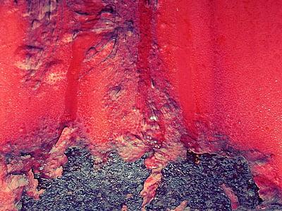 red rash paint