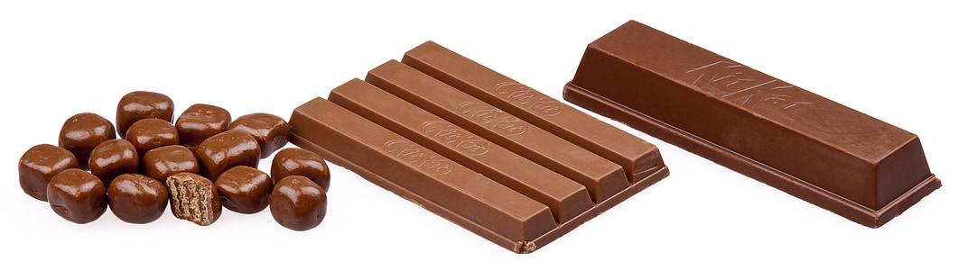 three chocolate bars