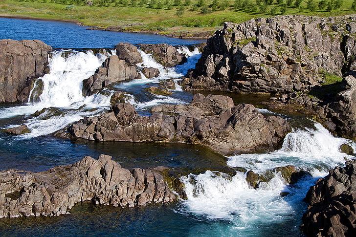 brown rocks in body of water