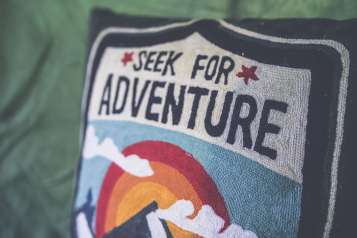 seek for adventure pillow