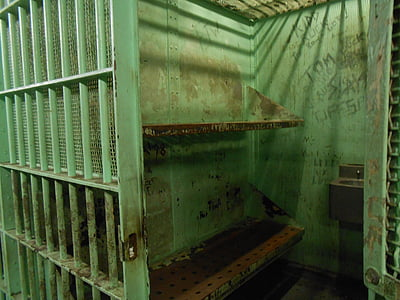 green prison cell opened