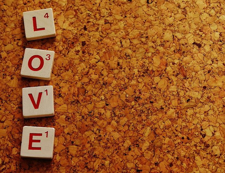 Love scrabble pieces