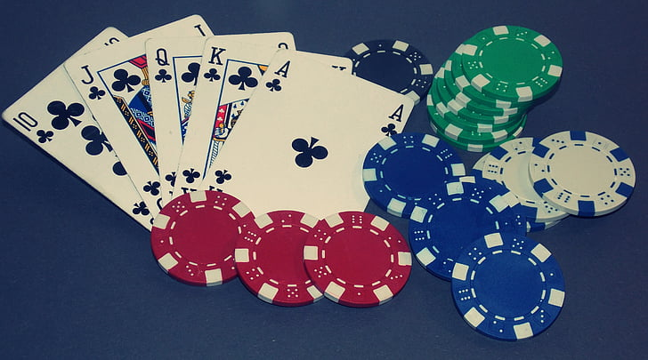 Royalty-Free photo: Poker chips with playing cards | PickPik