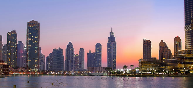 panoramic photography of city